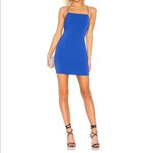 Jewel tone blue mini dress, so cute!